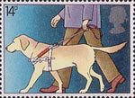 International Year of the Disabled People 14p Stamp (1981) Blind Man with Guide Dog