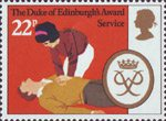 The Duke of Edinburgh's Award 22p Stamp (1981) 'Service'