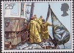 Fishing 25p Stamp (1981) Hoisting Seine Net