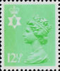 Regional Decimal Definitive - Northern Ireland 12.5p Stamp (1982) Light Emerald