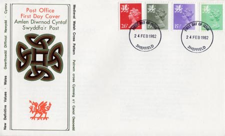 1982 Definitive First Day Cover from Collect GB Stamps