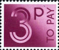 To Pay Labels 3p Stamp (1982) To Pay 3p