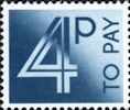 To Pay Labels 4p Stamp (1982) To Pay 4p