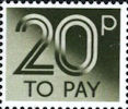 To Pay Labels 20p Stamp (1982) To Pay 20p