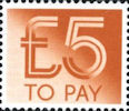 To Pay Labels £5.00 Stamp (1982) To Pay £5.00