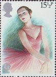 British Theatre 15.5p Stamp (1982) Ballerina
