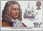 Maritime Hertiage 19.5p Stamp (1982) Admiral Blake and Triumph