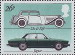 British Motor Cars 26p Stamp (1982) Jaguar 'SS1' and 'XJ6'