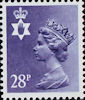 Regional Decimal Definitive - Northern Ireland 28p Stamp (1983) Deep Violet Blue