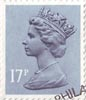 Definitive 17p Stamp (1983) Grey Blue