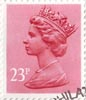 Definitive 23p Stamp (1983) Brown Red