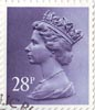 Definitive 28p Stamp (1983) Deep Violet