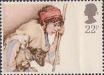 Christmas 22p Stamp (1984) Shepherd and Lamb