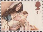 Christmas 31p Stamp (1984) Virgin and Child