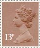 Definitive 13p Stamp (1984) Pale Chestnut
