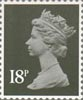 Definitive 18p Stamp (1984) Deep Olive Grey
