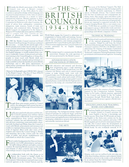 The British Council 1934-1984 (1984)