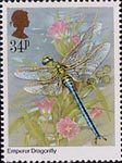 Insects 34p Stamp (1985) Ana imperator (dragonfly)