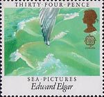 Europa. British Composers 34p Stamp (1985) 'Sea Pictuers' by Elgar