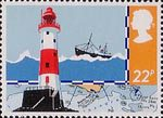 Safety at Sea 22p Stamp (1985) Beachy Head Lighthouse and Chart