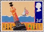 Safety at Sea 34p Stamp (1985) Buoys