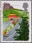 350 Years of Royal Mail Public Postal Service 22p Stamp (1985) Rural Postbus