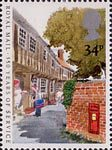 350 Years of Royal Mail Public Postal Service 34p Stamp (1985) Town Letter Delivery