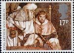 Arthurian Legends 17p Stamp (1985) King Arthur and Merlin