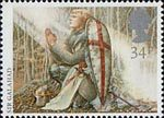 Arthurian Legends 34p Stamp (1985) Sir Galahad