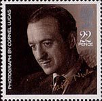 British Films 22p Stamp (1985) David Niven (from photo by Cornell Lucas)