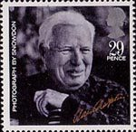 British Films 29p Stamp (1985) Charlie Chaplin (from photo by Lord Snowdon)