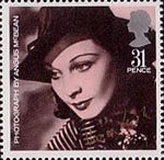 British Films 31p Stamp (1985) Vivien Leigh (from photo by Angus McBean)