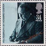 British Films 34p Stamp (1985) Alfred Hitchcock (from photo by Howard Coster)