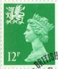 Regional Definitive - Wales 12p Stamp (1986) Bright Emerald