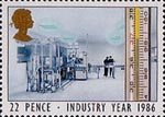 Industry Year 22p Stamp (1986) Thermometer and Pharmaceutical Laboratory (Health)