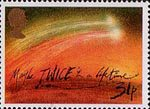 Halley's Comet 31p Stamp (1986) 'Twice in a Lefetime'