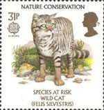 Europa. Nature Conservation. Endangered Species 31p Stamp (1986) Wild Cat