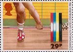 Sport 29p Stamp (1986) Weightlifting