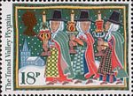 Christmas 1986 18p Stamp (1986) The Tanad Valley Plygain