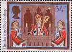 Christmas 1986 34p Stamp (1986) The Hereford Boy Bishop