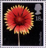 Flower Photographs by Alfred Lammer 18p Stamp (1987) North American Blanket Flower