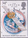 Sir Isaac Newton 34p Stamp (1987) The System of the World
