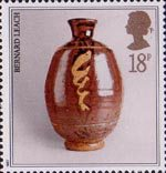 Studio Pottery 18p Stamp (1987) Pot by Bernard Leach