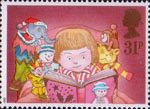 Christmas 1987 31p Stamp (1987) Child reading