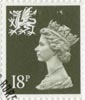 Regional Definitive - Wales 18p Stamp (1987) Olive-Grey