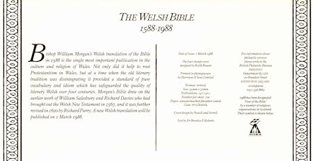 The Welsh Bible 1588-1988 (1988)