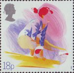 Sport 18p Stamp (1988) Gymnastics (Centenary of British Amateur Gymnastics Association)