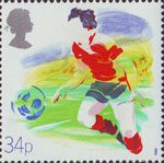 Sport 34p Stamp (1988) Football (Centenary of Football League)