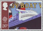Transport and Communications 26p Stamp (1988) Loading Transatlantic Mail on Liner Queen Elizabeth