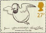 Edward Lear 27p Stamp (1988) 'Edward Lear as a Bird' (self portrait)